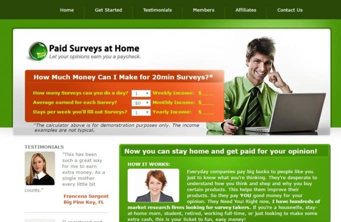 Make money from home.