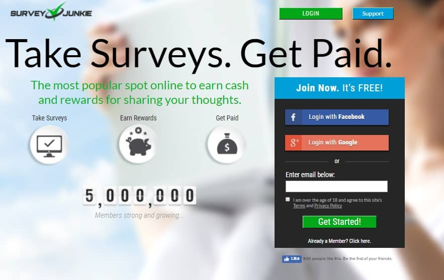 Survey Junkie makes earning money as a student fit into your schedule very easily.