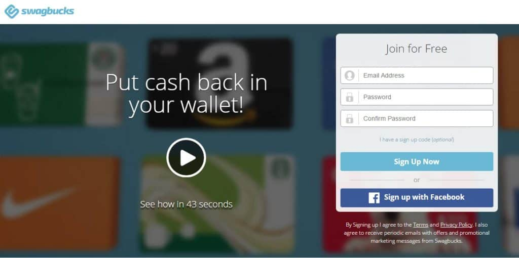 Earning money for college is easier when you can be paid without leaving home, and Swagbucks makes it very easy.