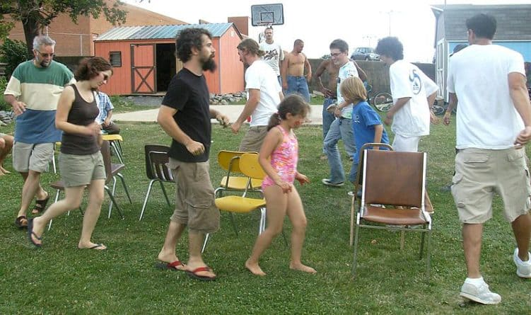 Musical chairs is always a fun way to keep kids and adults busy.
