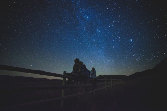 Star gazing is a way to occupy kids in a way that doesn't seem like a busy activity. It's fun, educational, and definitely memorable.
