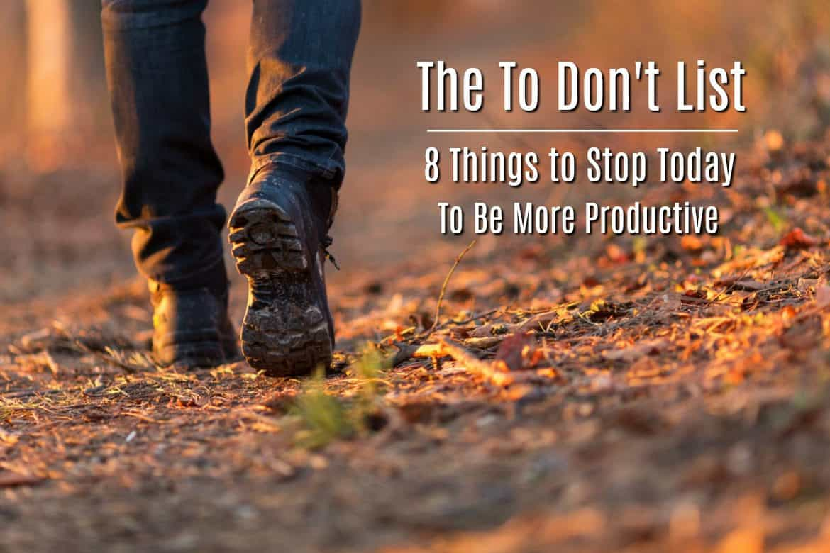 8 Things to stop doing to be more productive