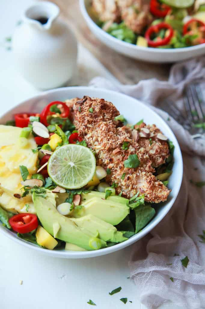 Tropical Coconut Chicken Salad is one of those meals you savor, but can eat without any guilt because it's packed with nutrients.