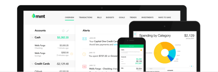 Mint will enable you to take a quick look at your bills and your money, so you'll see issues before they become problems.