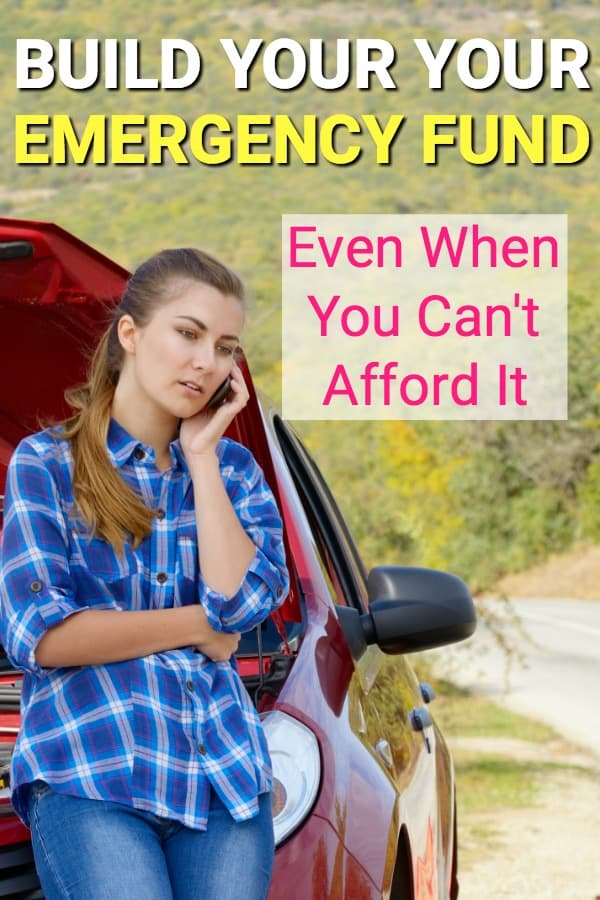 If you're having trouble getting a budget to work, it's probably because you're paying for emergencies from it. Here's how you can build an emergency fund that's affordable, stress free, and automatic.