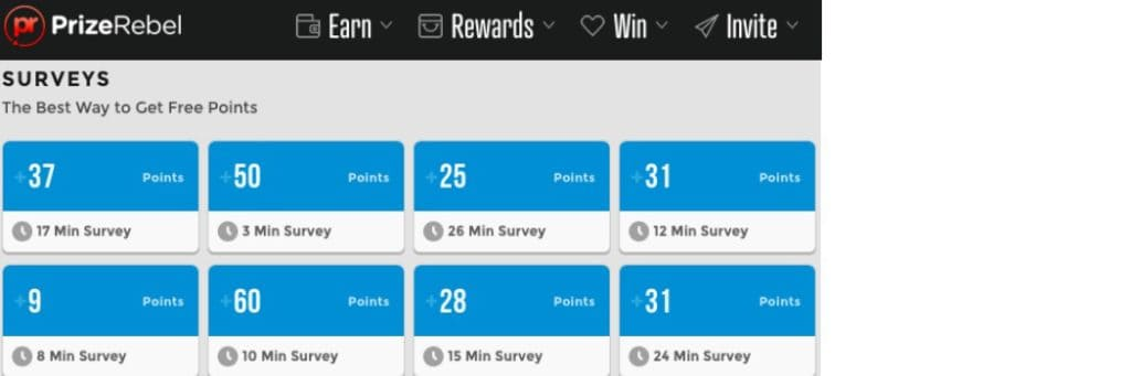 Prize Rebel is a popular survey site and is very flexible, giving you the option of receiving payment though free Amazon gift cards.