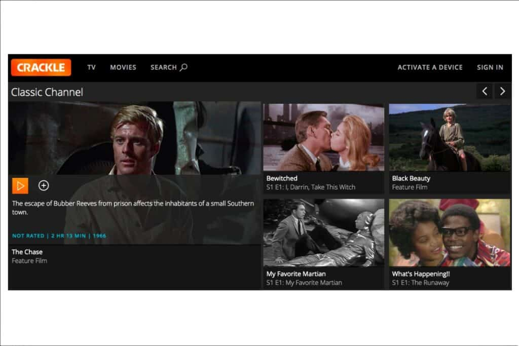 Crackle is a great source for free television shows so it would be a great way to watch TV without cable.