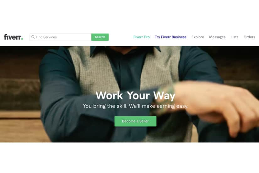 Fiverr is a popular platform to offer your digital services like data entry jobs done from home.