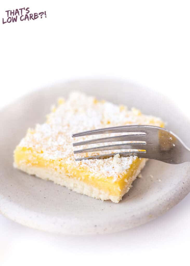 These keto friendly, and low carb lemon bars are a family favorite.