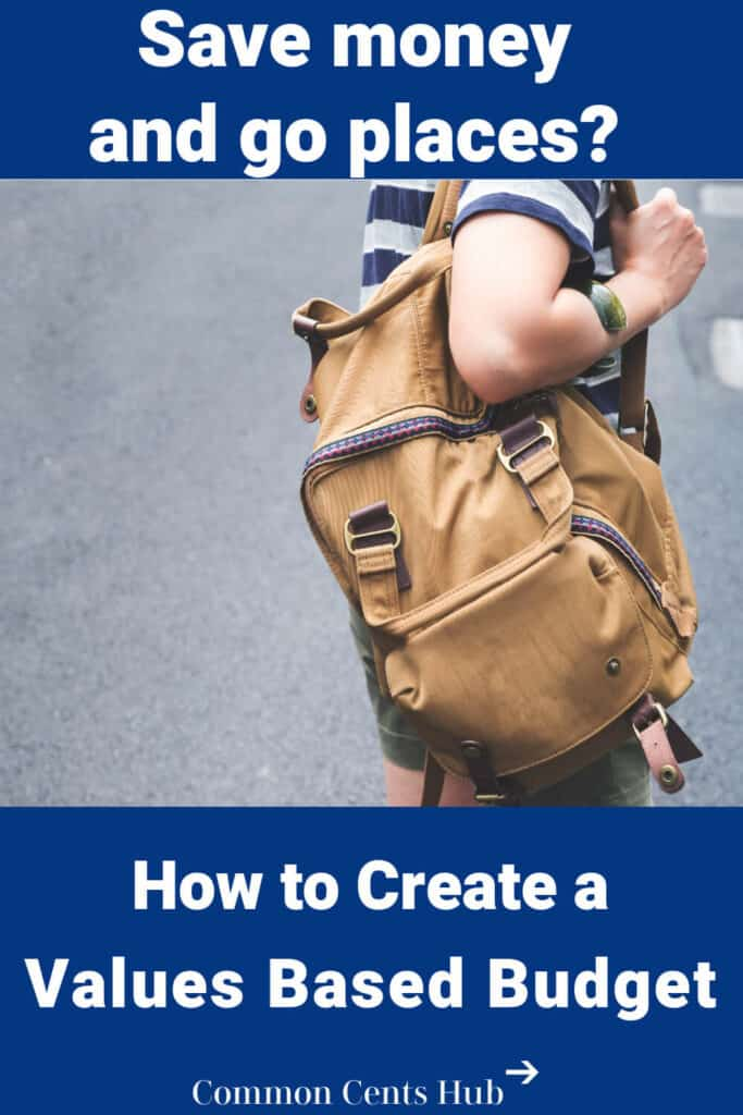 A values based budget is a budgeting method that helps you setup a spending plan that aligns with your personal values.