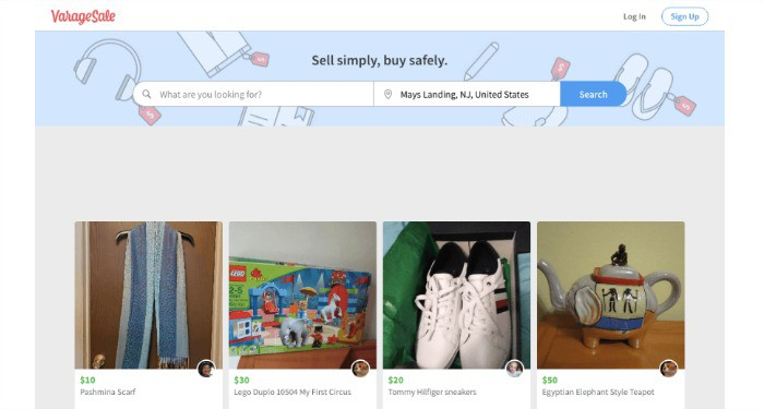 VarageSale is a used clothing app that caters to local buyers and sellers of all types of clothing.