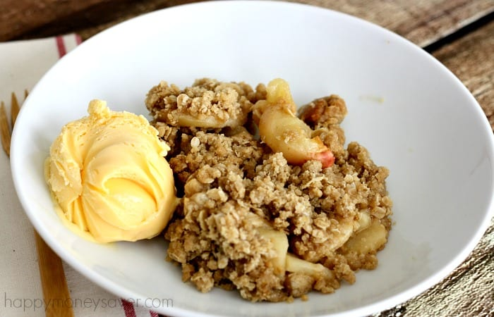 Apple crisp is something I'm always tempted to order in a restaurant, but this recipe makes it easy enough to have at home. And it's one of the best desserts to freeze because it goes right from freezer to oven.