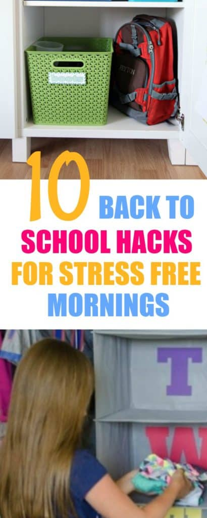 Back to school hacks help to you to ease into your day