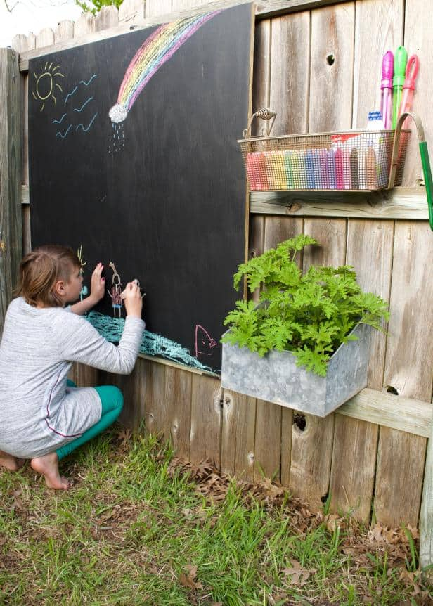 A DIY chalkboard is an easy project that'll keep kids busy and inspire their creativity.
