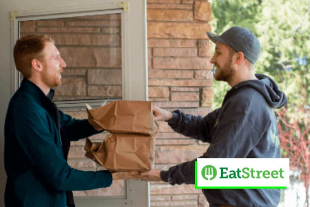 Eat Street is a nice way to make money on the side, and food delivery drivers rate their app as very easy to navigate.