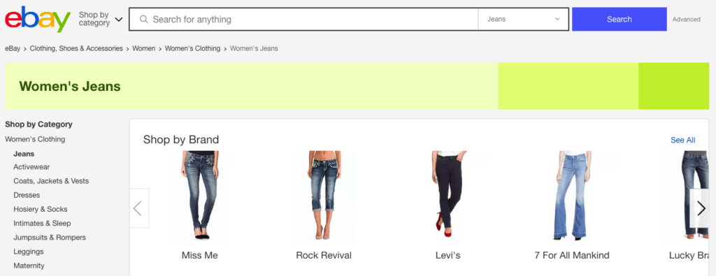 Ebay is one of the best apps to sell clothes because they bring one of the largest audiences of buyers.