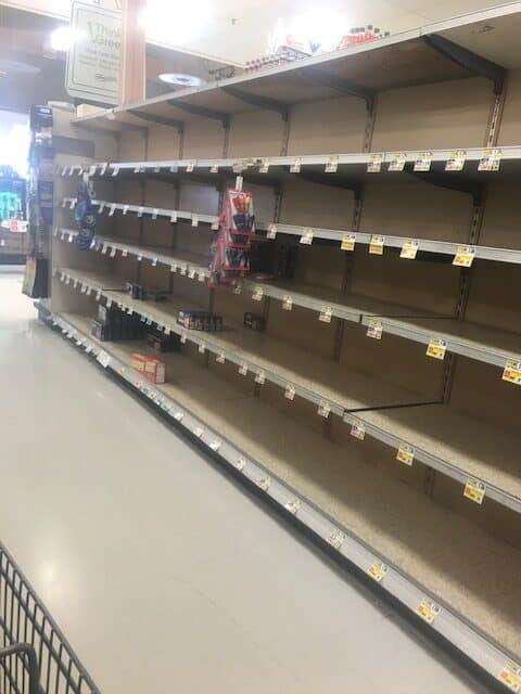 Empty store shelves have become common during a health pandemic.