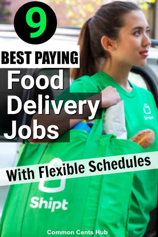 food delivery jobs have some of the most flexible schedules of any method to make extra money.