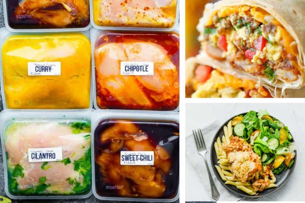 These are easy freezer meals that can be assembled several at a time, then frozen, to make your everyday meal time much less stressful.