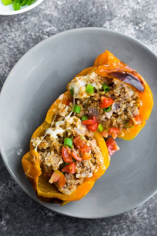 Stuffed peppers are a nice change of pace, and these are a healthy freezer meal with low prep.