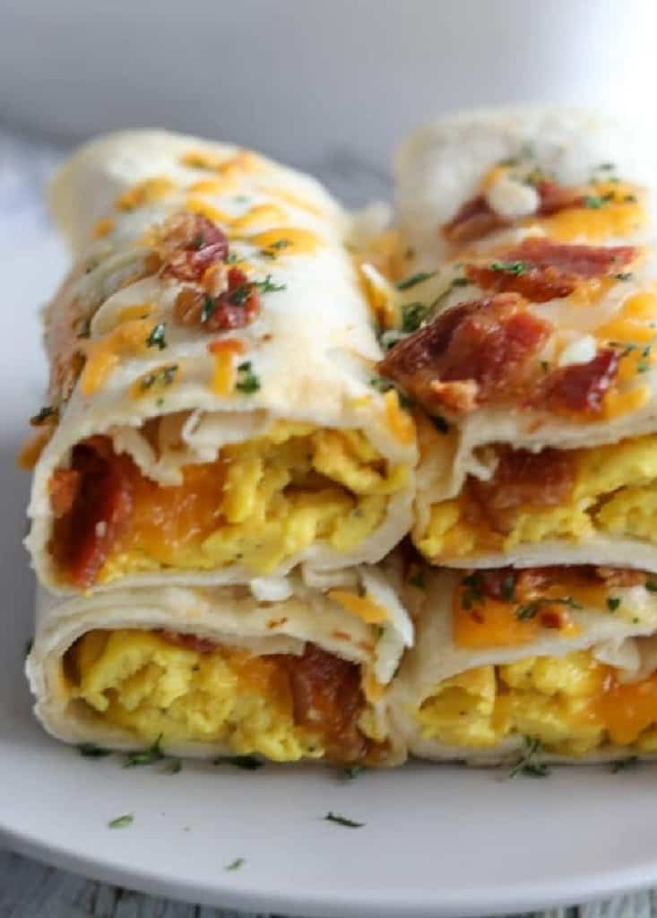 Low-carb breakfast burritos are a great way to eat a protein rich breakfast, with low carbs and great taste.