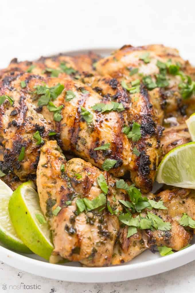 Simple, flavorful ingredients make cilantro lime chicken a dish to look forward to. This is especially good, and perfect for a low-carb diet.