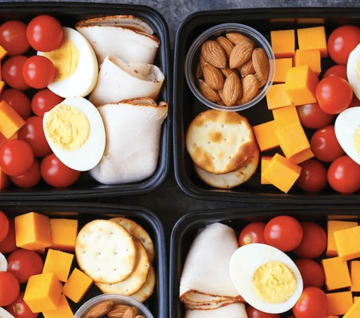Low carb deli snack boxes are a perfect way to bring a healthy meals that's filling, but not heavy, and has a nice variety.