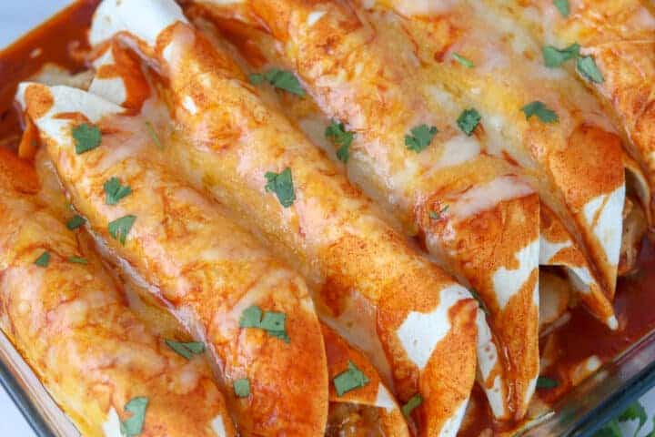 Enchiladas wouldn't usually be considered a low carb dish, but these are an exception.