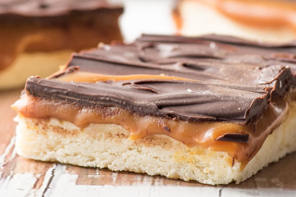 Low carb millionaire squares are one of those treats you hope you end up with at a cookie swap.