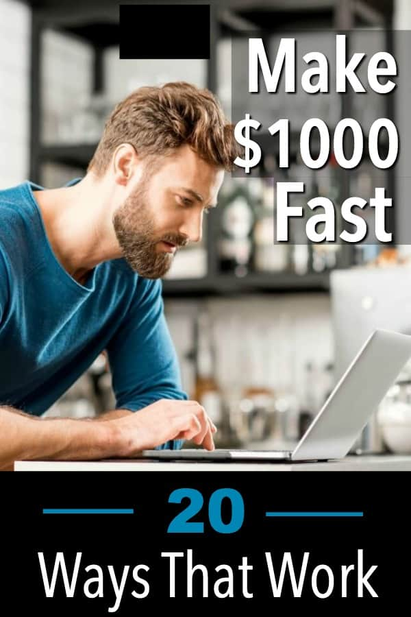 Making $1000 dollars fast is possible by getting the same value for regular expenses for less money.