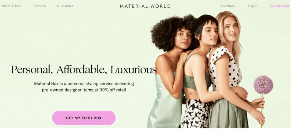 Material World is an online clothing sales app that specializes in second-hand, but well cared for clothing.