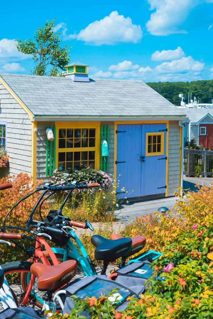 With a bit of paint and some simple DIY shutters, this boring shed comes alive to brighten your backyard.