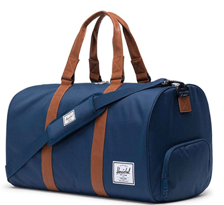 This Herschel weekend duffel bag is just the right size, and a bit nicer than his old athletic bag.