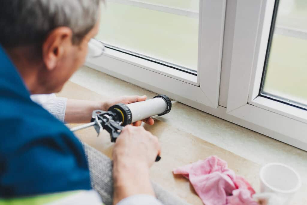 A tube of caulk and an inexpensive dispenser costs less than $10 and is one of the best ways to winterize your home.