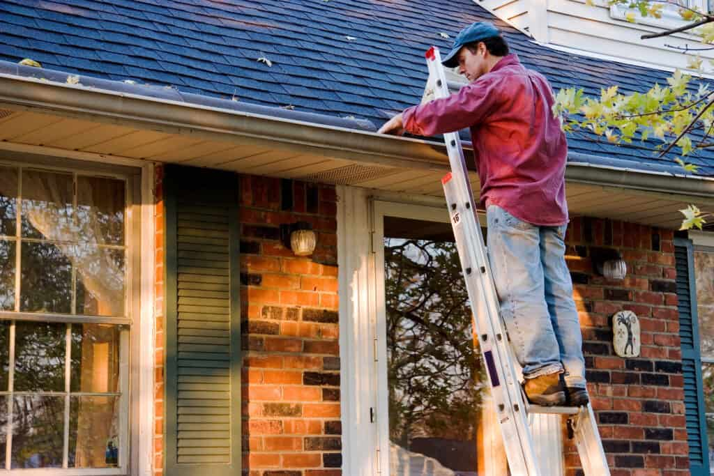 Cleaning your gutters should be done at least once a year, and a perfect time would be after the leaves fall as you prepare for winter.