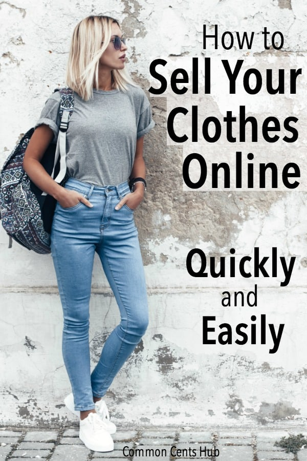 Selling clothes online is a simple process, and a great way to get paid to have a clutter free home.