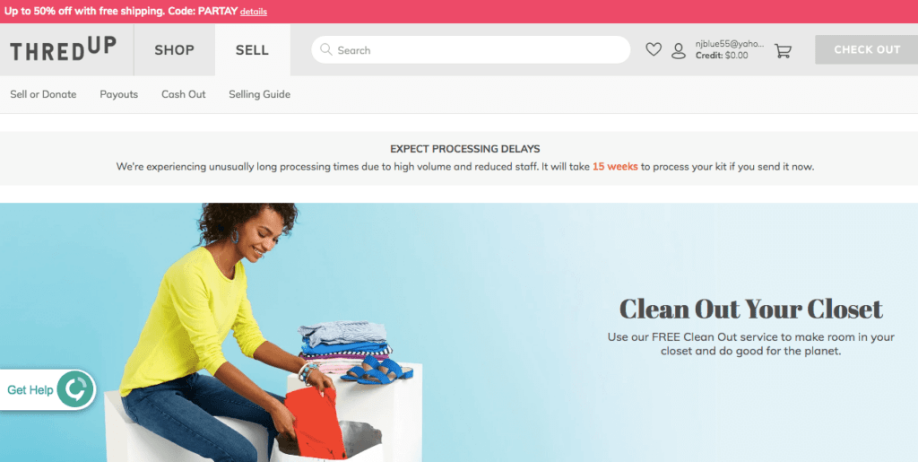 ThredUP is usually one of the best places to sell clothes, but you'll want to check their website to confirm their current turnaround time.