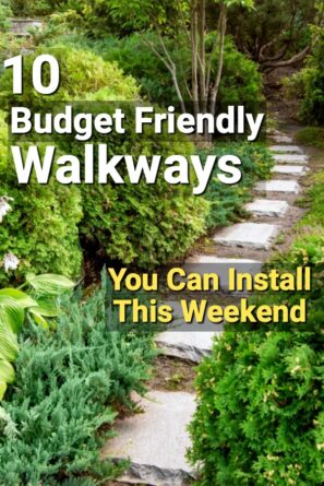 Here are 10 ideas to DIY an attractive walkway in your yard for a fraction of the cost you'd pay a landscaper to install it.