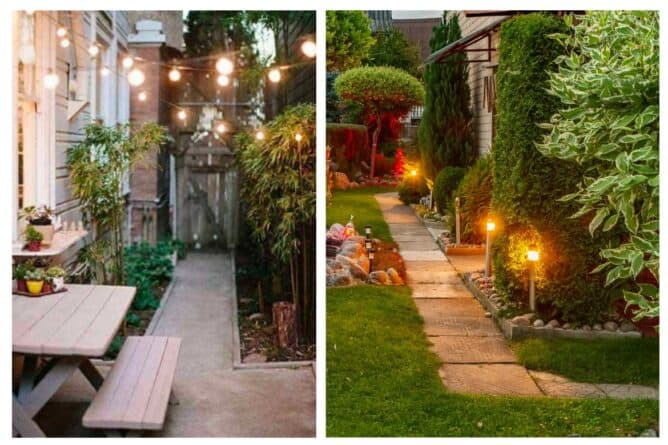 Adding landscape lighting not only makes your property safer to navigate, it can really upgrade the appearance in the evening. And a string of patio lights adds a festive feel to any outdoor space.